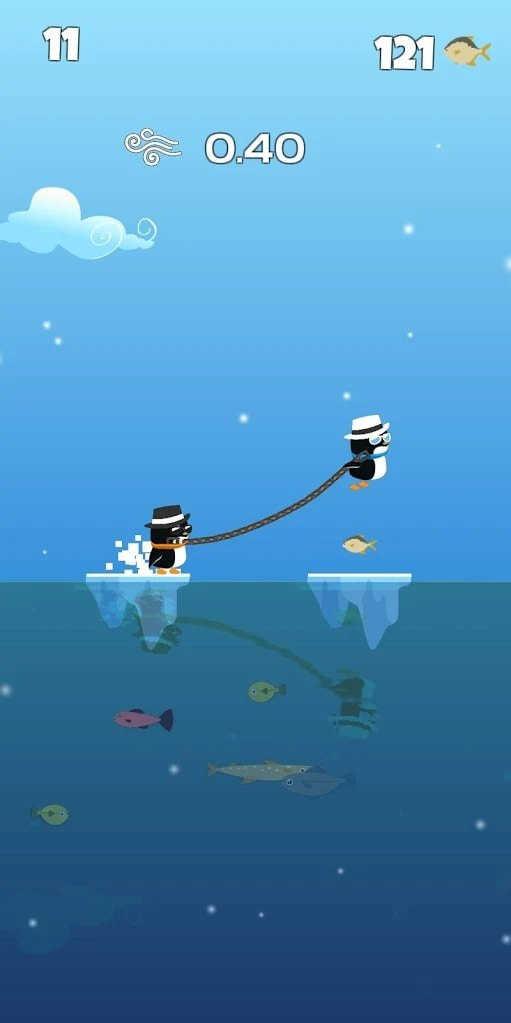 企鹅营救绳子