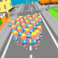 人群奔跑3D